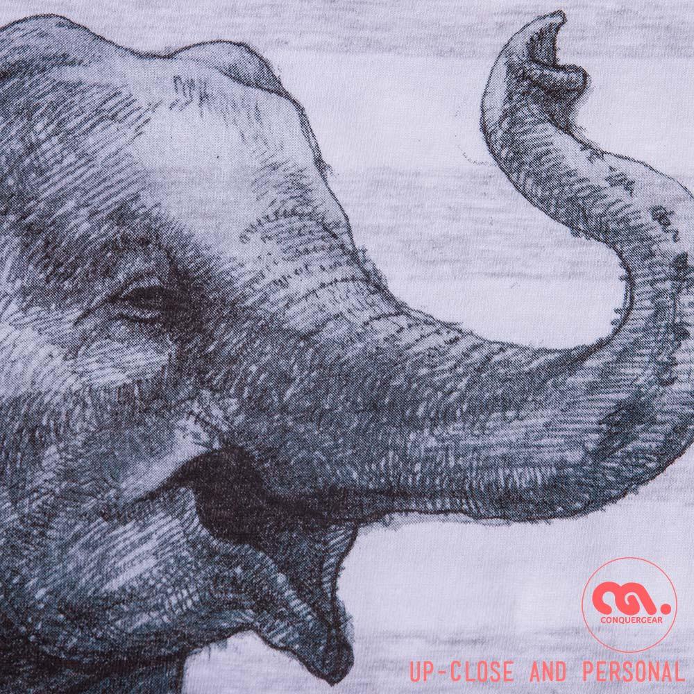 Image of Elephant Unisex Ash Stripe Tank