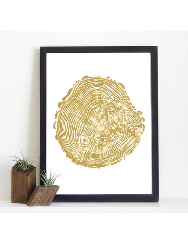Image of Giclee Stump Print <br><i>Riverside GOLD</i>