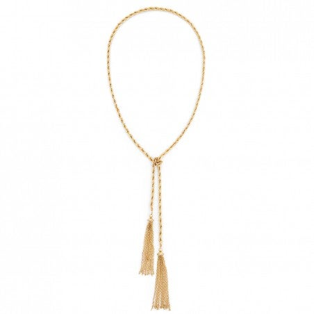 Image of Gold Rope Tassel Necklace