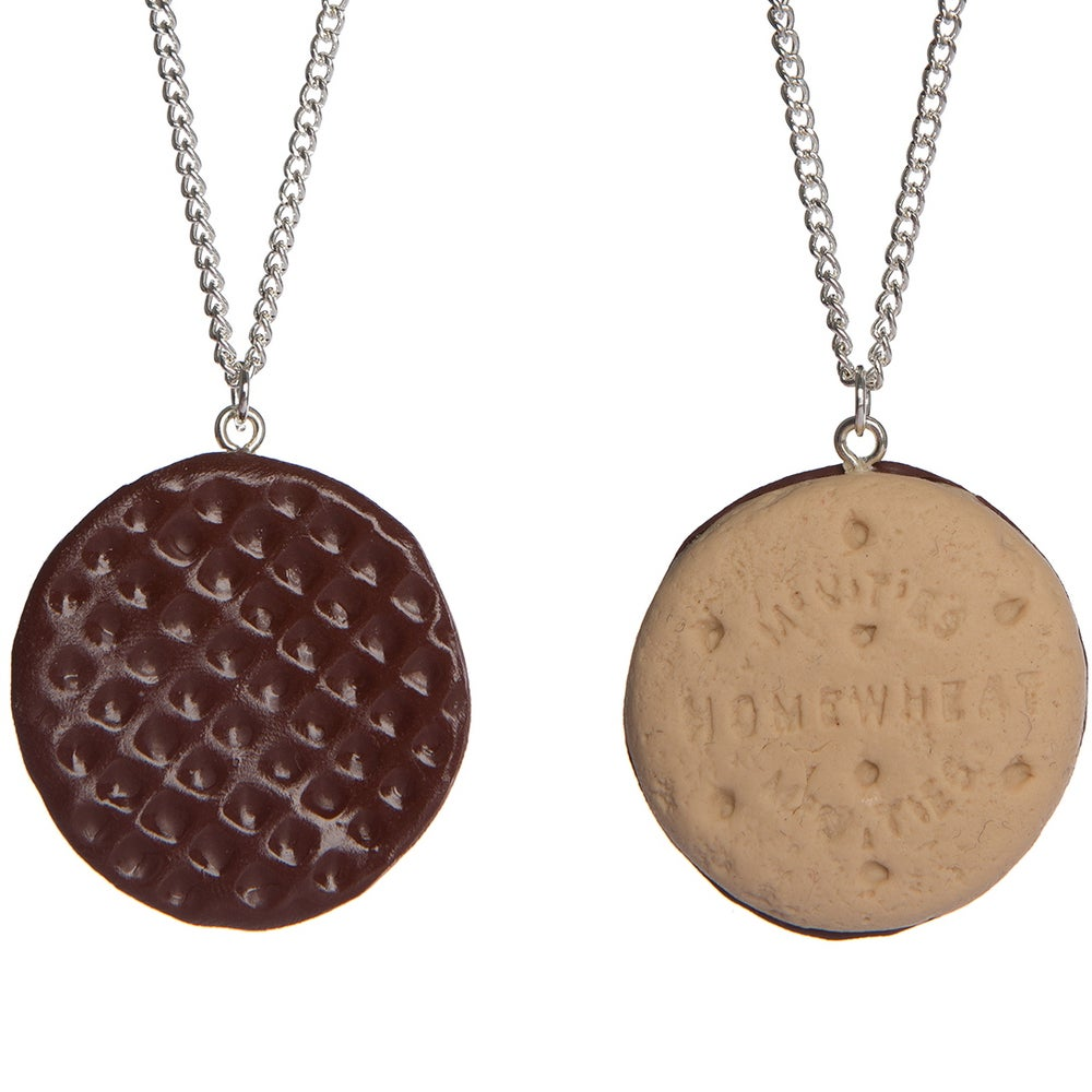 Image of Mini Chocolate Digestive Necklace