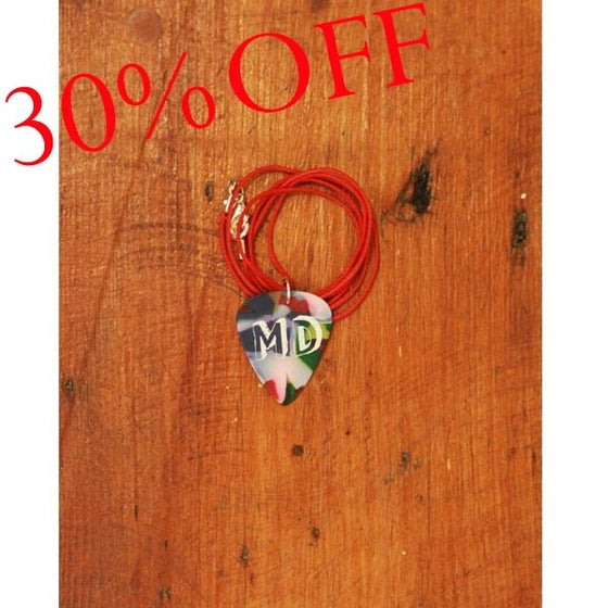 Image of MD Paint Plectrum Necklace (Red cord)
