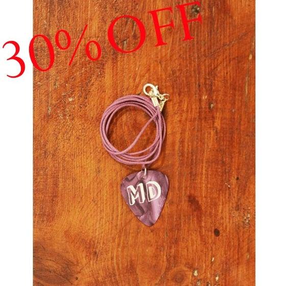 Image of MD Purple Plectrum Necklace (Purple Cord)