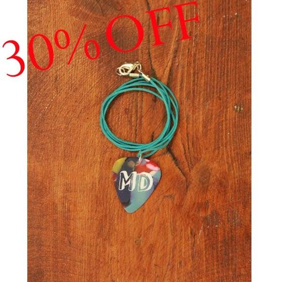 Image of MD Paint Plectrum Necklace (Blue)