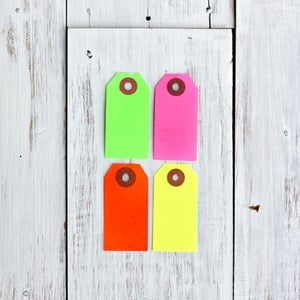 Image of Neon Parcel Tags
