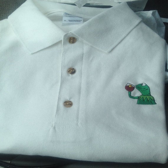 "Image of Kermit ""But that's none of my business"" Polo Shirt"