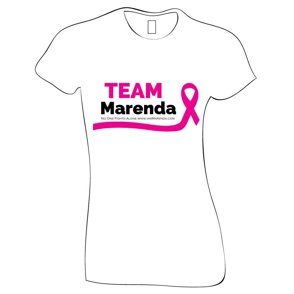Image of Team Marenda (ladies white tshirt)