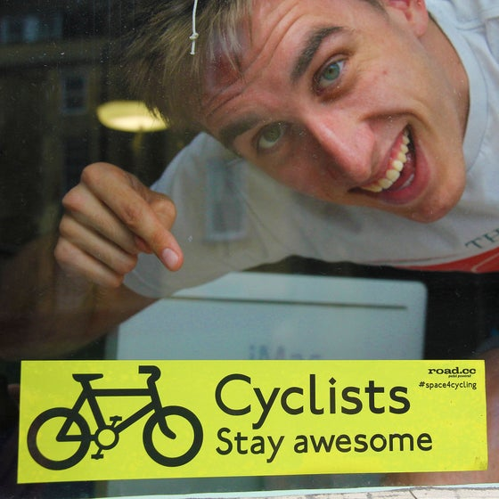 Image of Stay Awesome window sticker