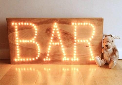 Image of Luminoso de Madera (una palabra de hasta 8 letras)
