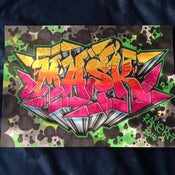 Image of Graffiti Name Sketch on A4 paper