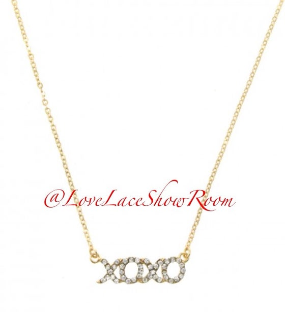 "Image of ""XO"" necklace"