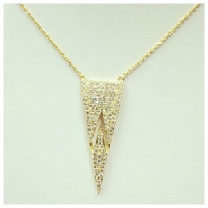 Image of Split Trapeze Necklace