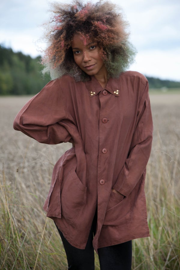 Image of Vintage remade Silk Tunic Coat