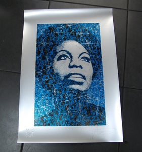 Image of NINA SIMONE  -  DEEP BLUE on SILVER - ARTIST PROOF