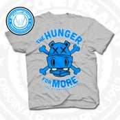 Image of Hunger for More Grey (Sports Blue) Tee