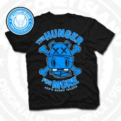 Image of Hunger for More Black (Sports Blue) Tee