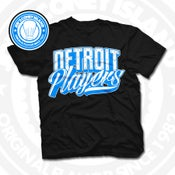 Image of Detroit Players Black (Sports Blue/Wht) Tee