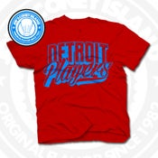 Image of Detroit Players Red (Sports Blue) Tee