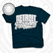 Image of Detroit Players Navy (Sports Grey/Wht) Tee