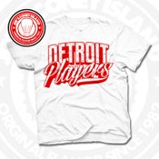 Image of Detroit Players White (Red) Tee