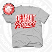 Image of Detroit Players Grey (Red/Wht) Tee