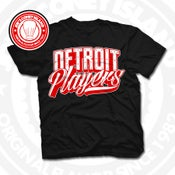 Image of Detroit Players Black (Red/Wht) Tee