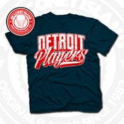 Image of Detroit Player Navy (Red/Wht) Tee