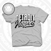 Image of Detroit Players Grey (Blk/Wht) Tee