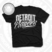 Image of Detroit Players Black (Blk/Wht) Tee