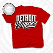 Image of Detroit Players Red (Blk/Wht) Tee