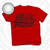 Image of Detroit Players Red (Blk) Tee