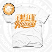Image of Detroit Players White (Orange) Tee