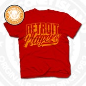 Image of Detroit Players Red (Orange) Tee