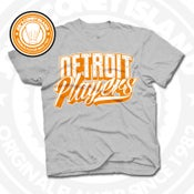 Image of Detroit Players Grey (Orange/Wht) Tee