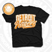 Image of Detroit Players Black (Orange/Wht) Tee