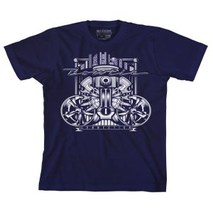 Image of BOWTIE COLLAGE TEE NAVY