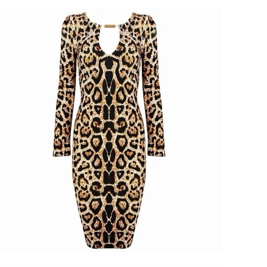 Image of Lexi Leopard Bandage Dress
