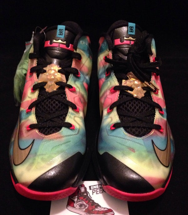 Image of Nike Max Lebron XI 11 Low SE Mulitcolor Championship Pack 695224-970 Size 9