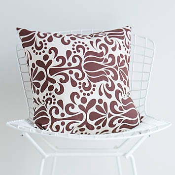 Image of Chocolate Grand Jubilee Cushion Cover