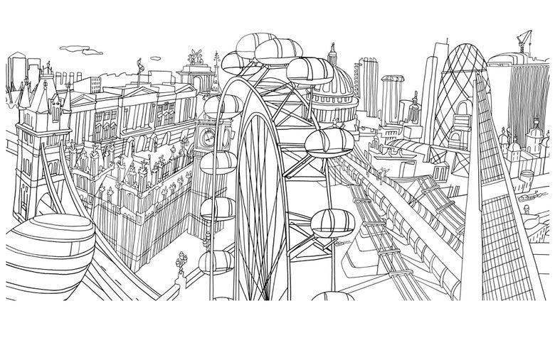 Image of London Skyline- Black and White