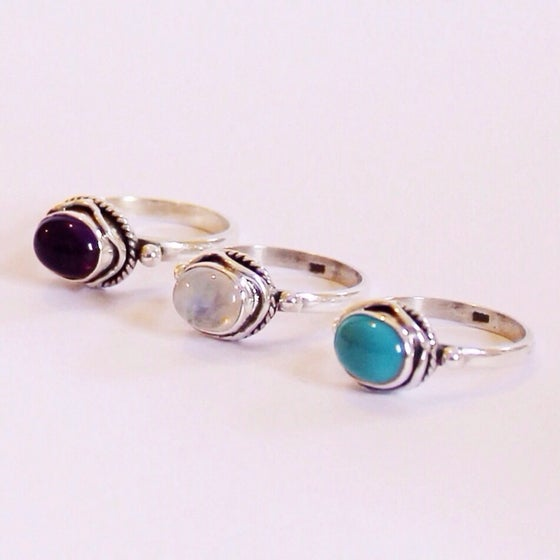 Image of Sterling Silver Gemstone Rings