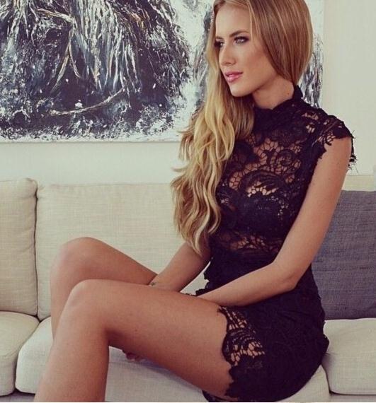 Image of Hot lace show body elegant fashion dress