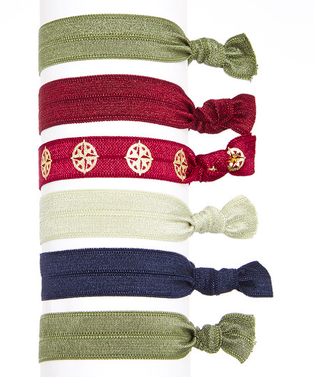 Image of Evergreen Pack of Six Hair Ties