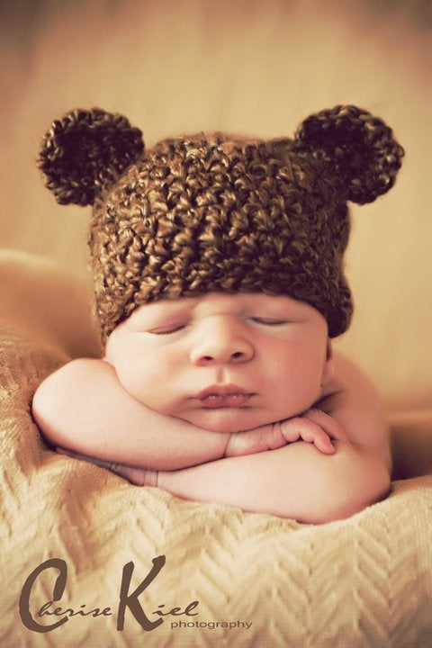 Image of Charlie Ted E Bear, Newborn, Photo Prop