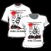 Image of Camiseta Masculina / Men's T-Shirt - Fury and Rage (white)