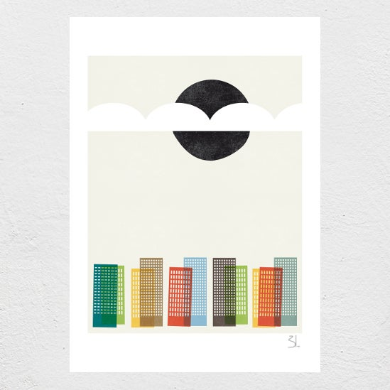 Image of City Scape Print