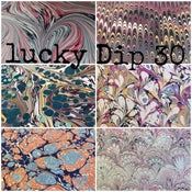 Image of LUCKY DIP 30 - assorted mix of 30 marbled papers