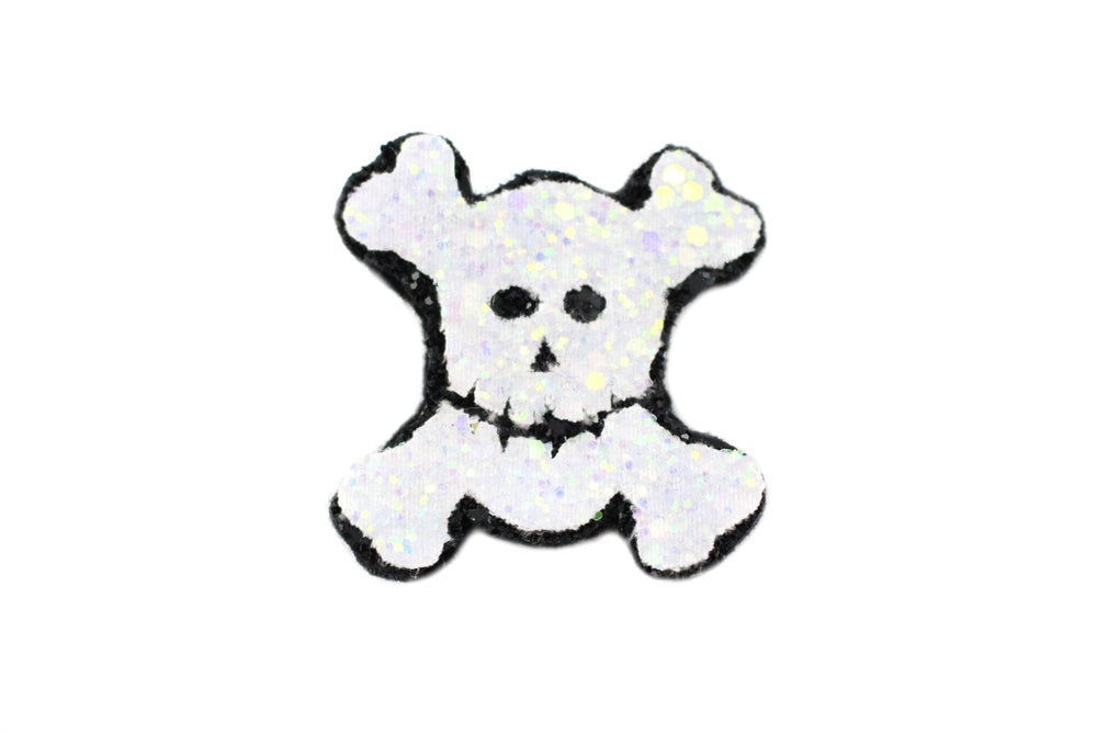 Image of Glitter Skull and Crossbones Hair Clip