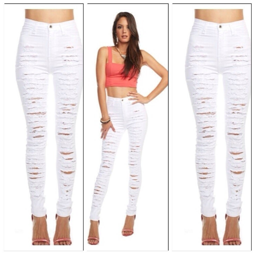 High Wasted Ripped Jeans