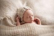 Image of {the Faithful} Newborn Knit Bonnet