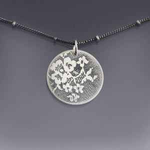 Image of Silver Lace Circle Necklace